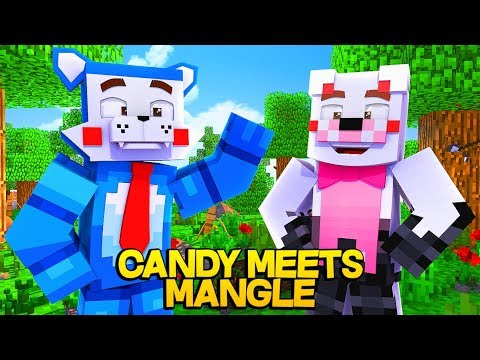 Funtime Foxy jr Meets Candy The Cat From Five Nights At Candies (Minecraft Daycare Roleplay)