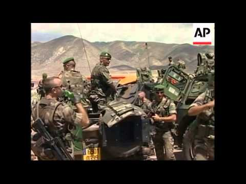 French troops on patrol in Haiti's second city