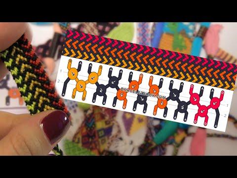 Фенечки: Схемы Косого Плетения // Bracelets: Normal Patterns