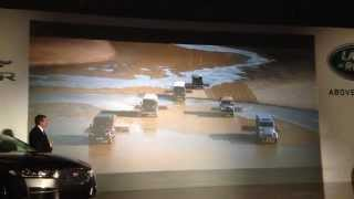 Land Rover drawing lines in the sand on Driving the Nation