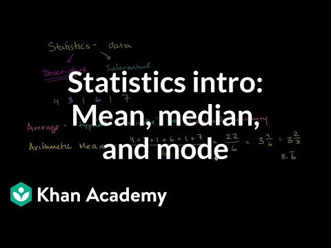 Statistics intro: Mean, median, and mode | Data and statistics | 6th grade | Khan Academyиз YouTube · Длительность: 8 мин54 с