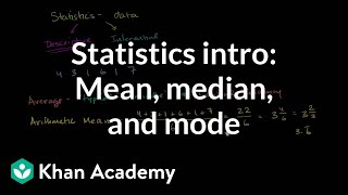 Statistics intro: Mean, median, and mode | Data and statistics | 6th grade | Khan Academy thumbnail