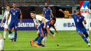 India lose 1-2 to Turkmenistan | Manorama News(India ended their 2018 World Cup football qualifying campaign on a disappointing note as they lost to Turkmenistan 1-2 in their last group match to finish at the ..., 2016-03-30T05:49:16.000Z)