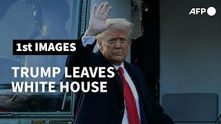 Trump leaves White House, skipping Biden inauguration | AFP