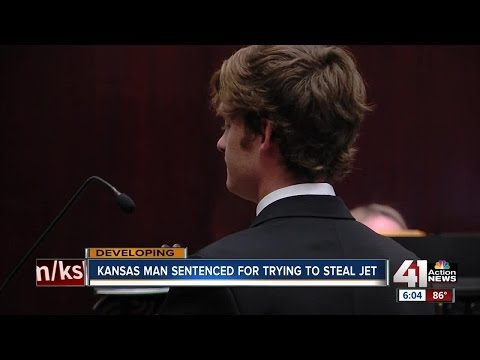Kansas man sentenced for trying to steal jet