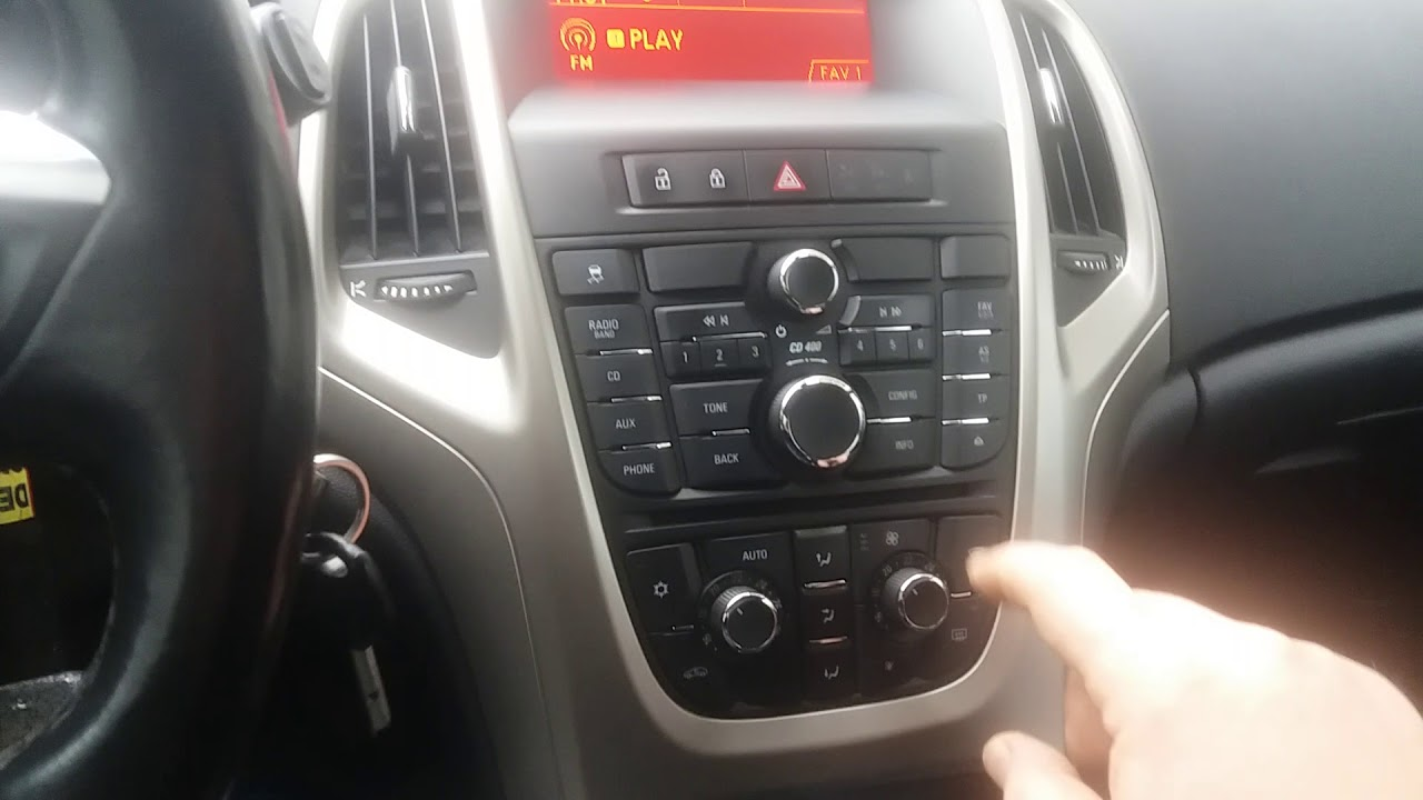 how to enable bluetooth on astra j insignia meriva cd 400 [ 1280 x 720 Pixel ]
