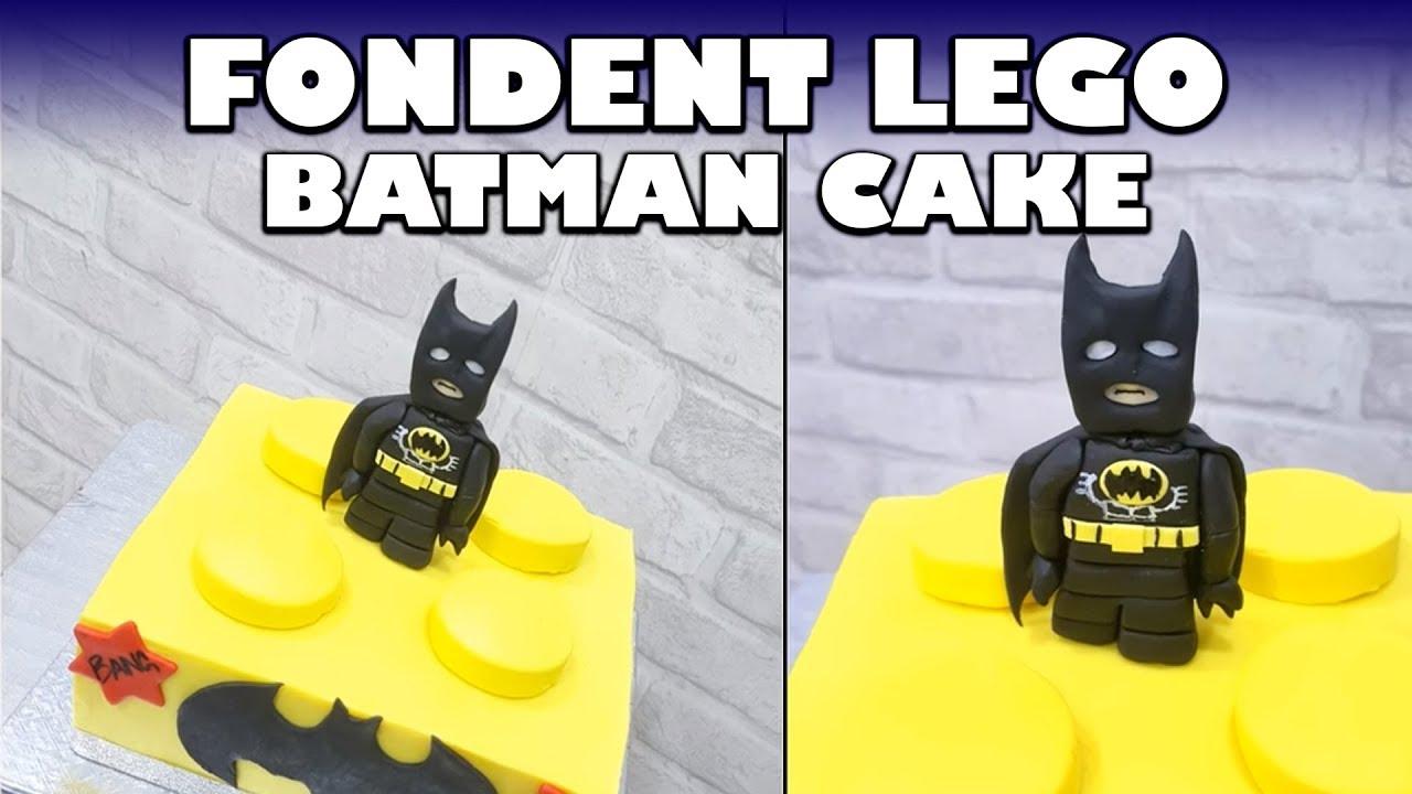 Fondant Lego Batman Cake Topper Tutorial