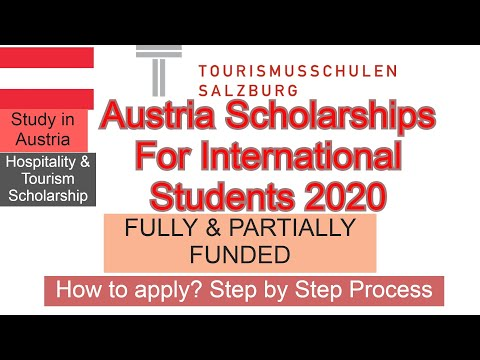 Austria Scholarships For International Students 2020 Fully Funded