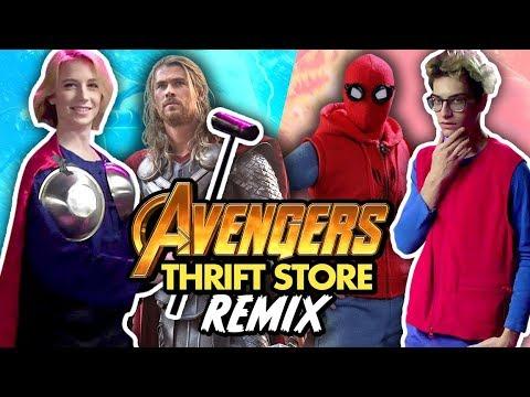 AVENGERS THRIFT STORE CHALLENGE (Squad Vlogs)