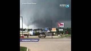 Confirmed tornado rips through Marshalltown