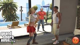 GTA 5 - Trevor CAUGHT FRANKLIN AND TRACEY (secret encounter)