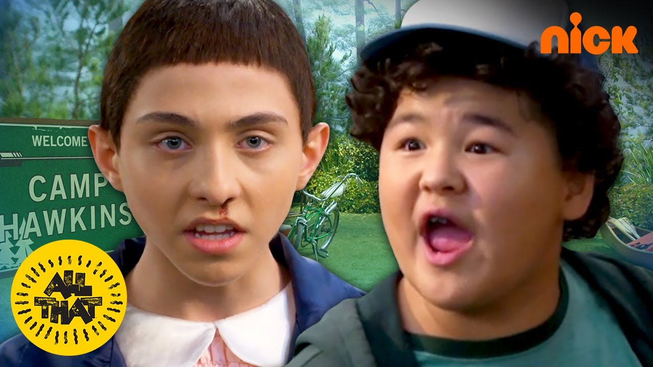 The Stranger Things Kids At Camp! | All That