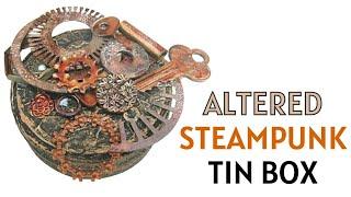 Altered Steampunk Tin Box