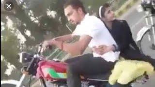 Bike accident in Pakistan Live recording