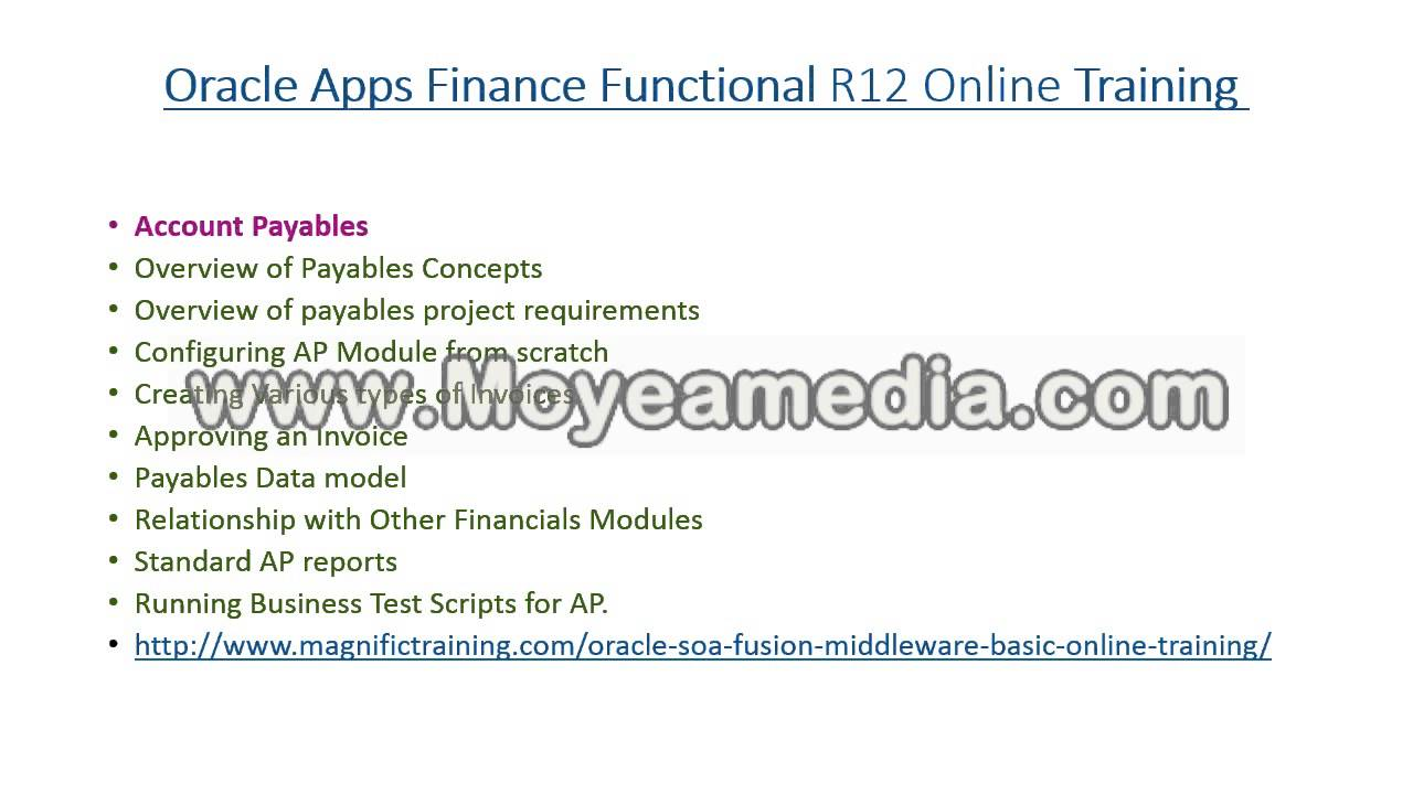 oracle apps financial functional training