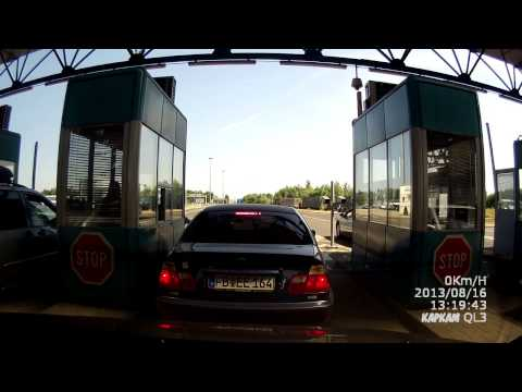 Crossing Border Serbia -Hungary on E75 -- Граница: Сербия- Венгрия Е75 (Хоргош  Реске)