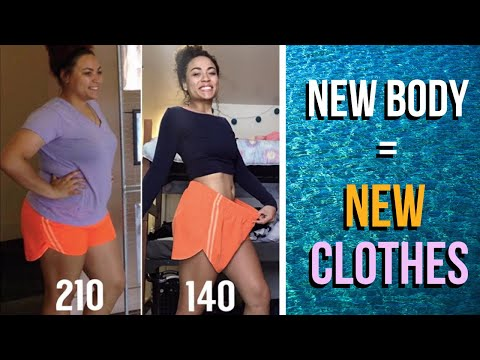 buying new clothes after weight loss