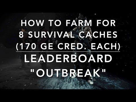 """The Division - Global Event """"OUTBREAK"""" - farming SURVIVAL CACHES (GE LEADERBOARD)"""