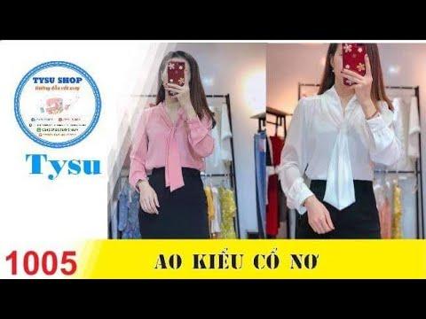 Hướng dẫn cắt may TysuShop số 1005: Áo Kiểu Cột Nơ