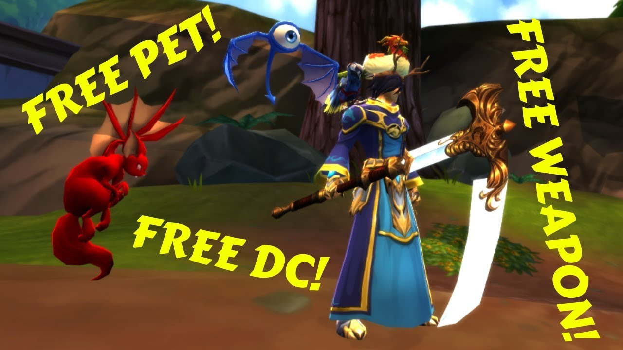 AQ3D Free Pet! Free Weapon! Free Dc! For EVERYONE! AdventureQuest 3D