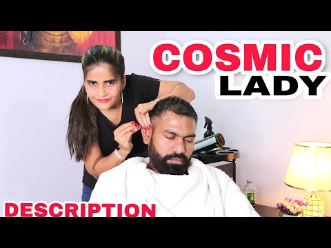 ASMR head massage therapy by Cosmic lady | calming massage | Indian massage