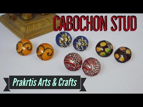 Cabochon Stud, DIY, Resin Stud