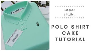 T Shirt cake tutorial (Polo shirt cake)