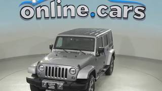 A98829TR Used 2017 Jeep Wrangler Unlimited Sahara 4WD Silver Test Drive, Review, For Sale