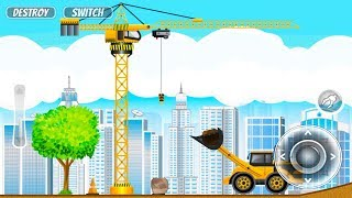 Construction City 2 - Truck, Crane and Firetruck   Android Gameplay   Friction Games
