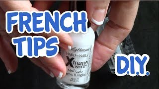 How to do French Tips on Short Natural Nails