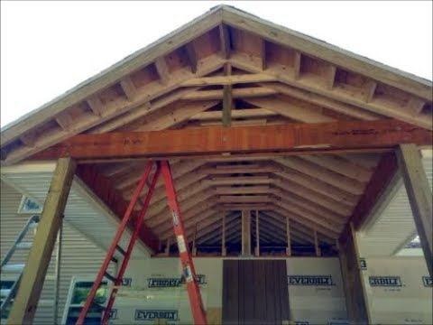 build gable roof over deck / porch