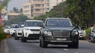 AKASH & ANANT AMBANI DRIVING BENTLEY BENTAYGA WITH Z+ SECURITY