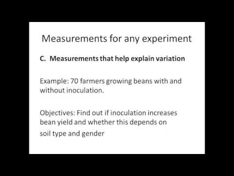 """Designing Right-N Trials with Farmers - Week 3: """"Measurements"""""""
