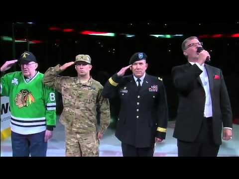 Awesome National Anthem at United Center 6/15/13