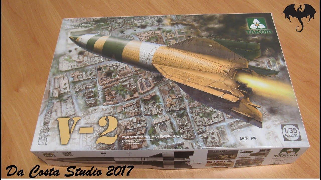 Takom 1//35 2075 German V-2 Rocket