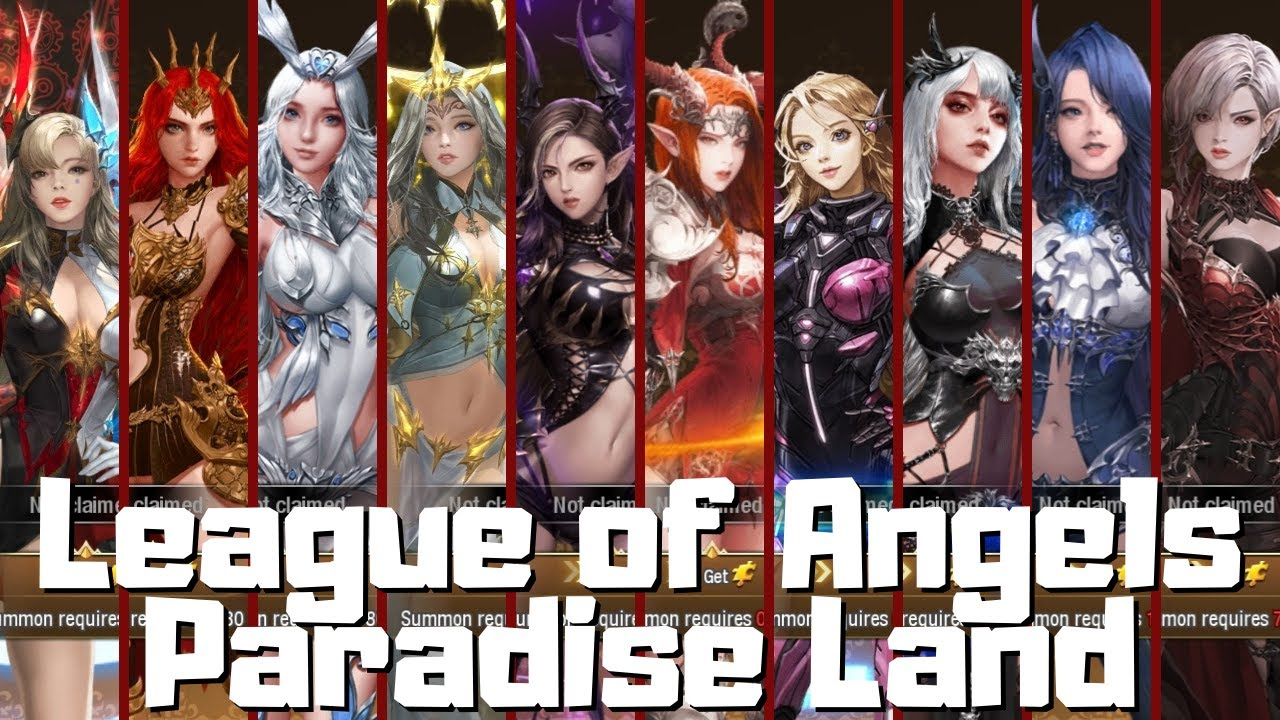 League of Angels Paradise Land All Chatacter