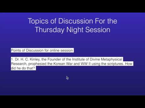 Edited Version2 Prophecy of Korean War 2018 & Dr. H. C. Kinley PLIM 08 10 2017