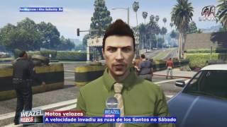Video WEAZEL NEWS - Crime na fazenda, Greve de ônibus e Corrida moto Gp em Los Santos - GTA V download MP3, 3GP, MP4, WEBM, AVI, FLV Oktober 2018