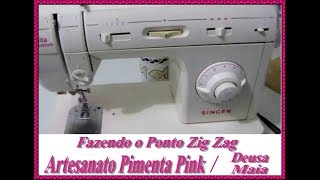 Ponto Zig Zag Na Maquina Singer Facilita Premium