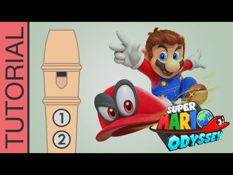 Super Mario Odyssey - Jump Up, Super Star! - Recorder Notes Tutorial