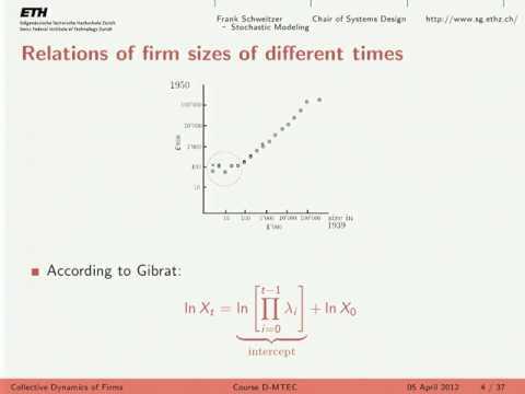 ETH Lec 07. Stochastic Growth Models II: Gibrat's vs Yule Simon Model (05/04/2012)