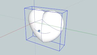How To Draw A 3d Printable Heart Shape In Sketchup Youtube