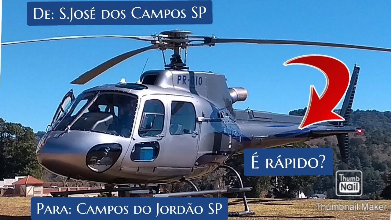 VOANDO de São José dos Campos SP para Campos do Jordão SP (HELICÓPTERO ESQUILO B3e)
