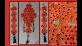 DIY: WALL HANGING WITH BANGLES / BEST OUT OF WASTE / WOOLEN WALL HANGING –SS ART CREATIONS