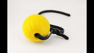 Foam Ball with Leather Strap