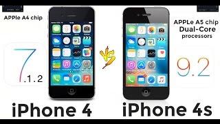 iPhone 4S vs iPhone 4 ios 9.2 vs 7.1.2(, 2016-03-09T18:03:36.000Z)