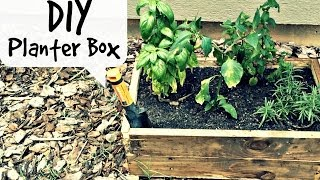 Diy Planter Box | Pallet Wood