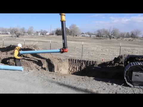 Dietrich Idaho Water Project 11-13-2013 Lay Pipe, Backfill, Install Culvert