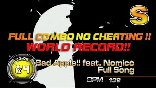 Bad Apple Full Song CO-OP X4 / Quadruple Performance | WORLD RECORD!! Gold S!! | NO CHEATING!!