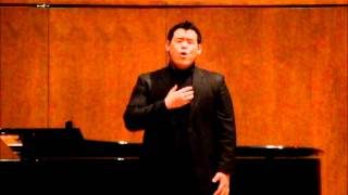 Christopher Yoon sings Deep River at The Juilliard School